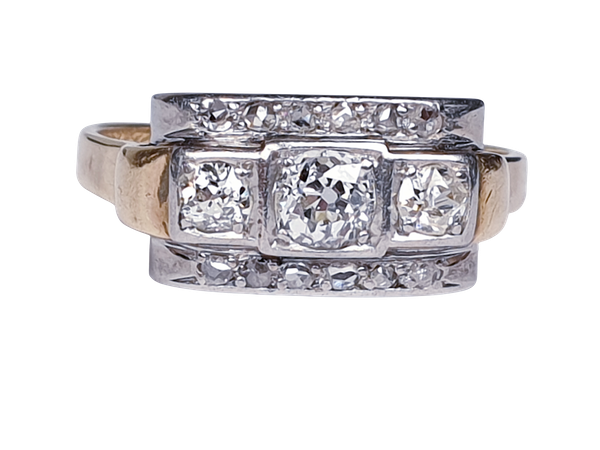 Art Deco Diamond Engagement Ring  DBGEMS - image 6