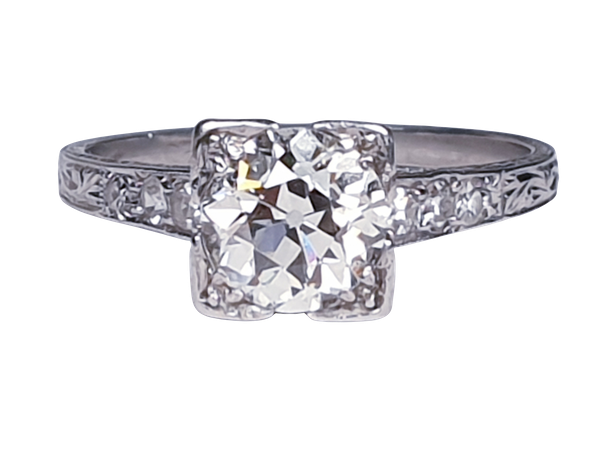 Art Deco Geometric Diamond Engagement Ring  DBGEMS - image 6