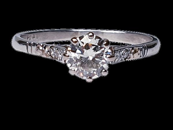 Art Deco Solitaire Diamond Engagement Ring  DBGEMS - image 4