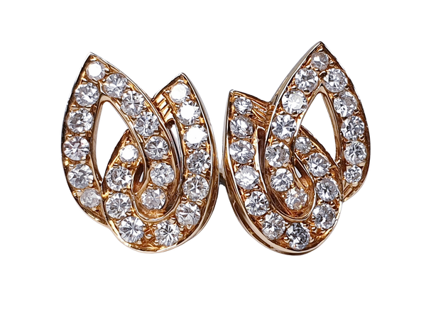 Stylish French Diamond Clip Earrings  DBGEMS - image 4