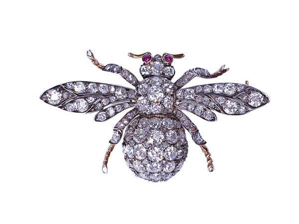 Amazing Antique Bee brooch  DBGEMS - image 8