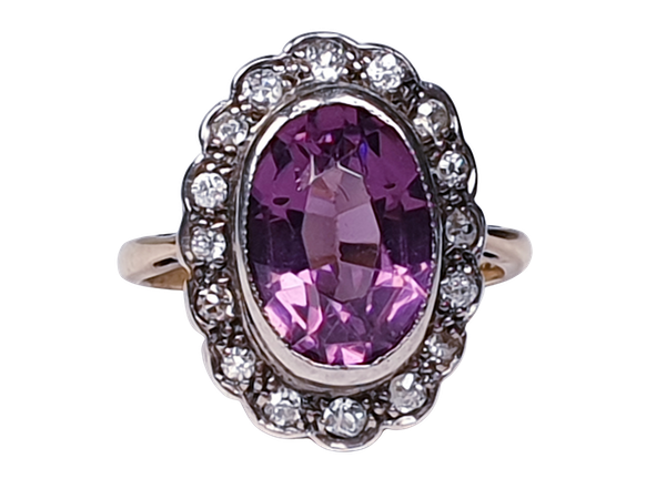 Amethyst and Diamond Cluster Ring  DBGEMS - image 5