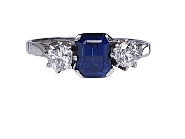 Art Deco Sapphire and Diamond Engagement Ring 3285 DBGEMS - image 5