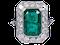Emerald and diamond dress ring  DBGEMS - image 5