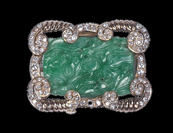 Jade and Diamond Pendant  DBGEMS - image 4