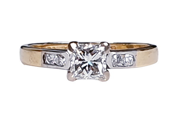 Princess cut diamond engagement ring  DBGEMS - image 5