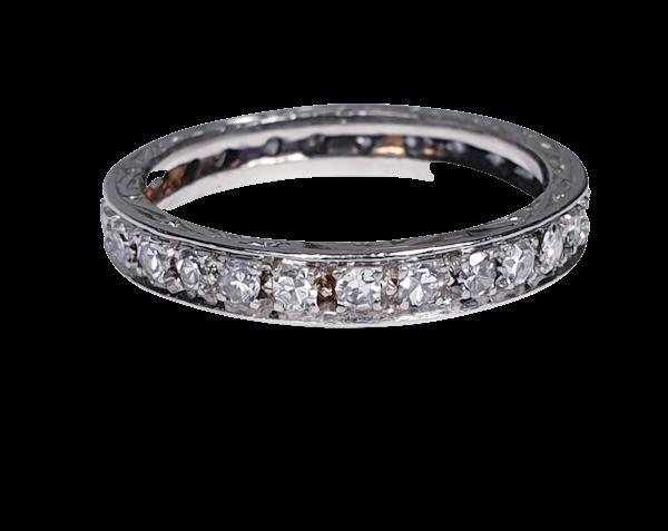 Art Deco Diamond Full Hoop Eternity Ring  DBGEMS - image 4