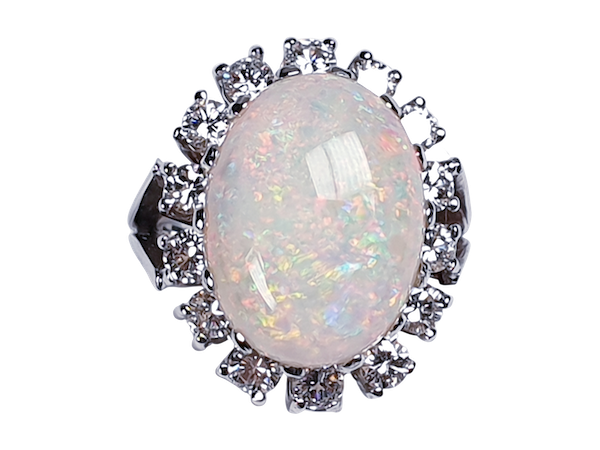 Substantial opal and diamond dress ring  DBGEMS - image 5