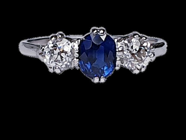 Sapphire and diamond engagement ring 4318   DBGEMS - image 6