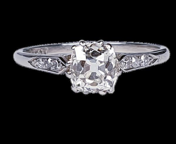 1ct Art Deco Diamond Engagement Ring  DBGEMS - image 5