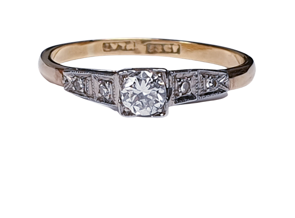 Antique Solitaire Diamond Ring  DBGEMS - image 5