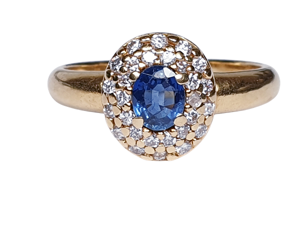 Victorian Sapphire and Diamond Cluster Ring  DBGEMS - image 6