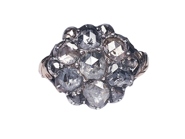 18th Century Rose Diamond Button Cluster Ring  DBGEMS - image 1