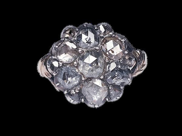 18th Century Rose Diamond Button Cluster Ring  DBGEMS - image 1
