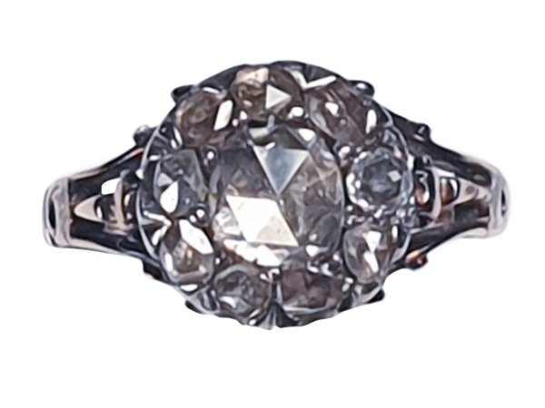 Georgian Diamond Button Cluster Ring  DBGEMS - image 1
