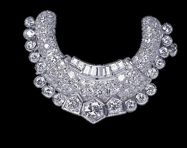 Art Deco stylised diamond crescent  DBGEMS - image 1