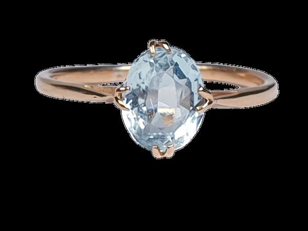 Single Stone Aquamarine Ring  DBGEMS - image 1