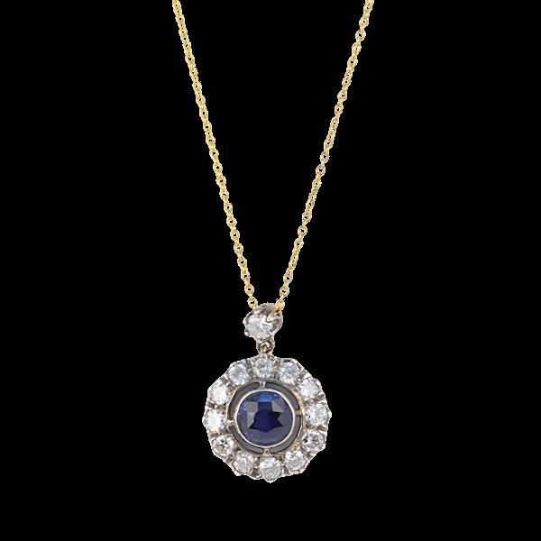 Date circa 1910, 18ct Yellow/White Gold, Sapphire and Diamond stone set Ring, SHAPIRO & Co since1979 - image 6
