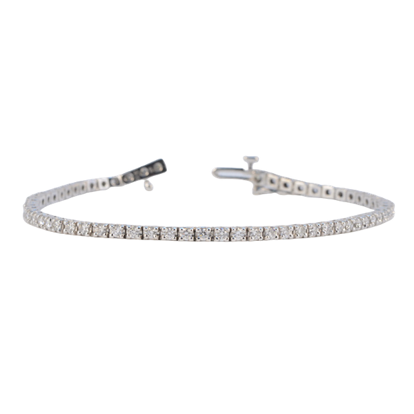 1980's, 18ct White Gold Diamond Tennis Bracelet, SHAPIRO & Co since1979 - image 5