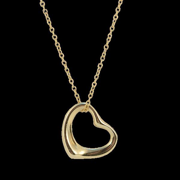 1990's, 18ct Yellow Gold Heart shape Pendant by Tiffany & Co, SHAPIRO & Co since1979 - image 6