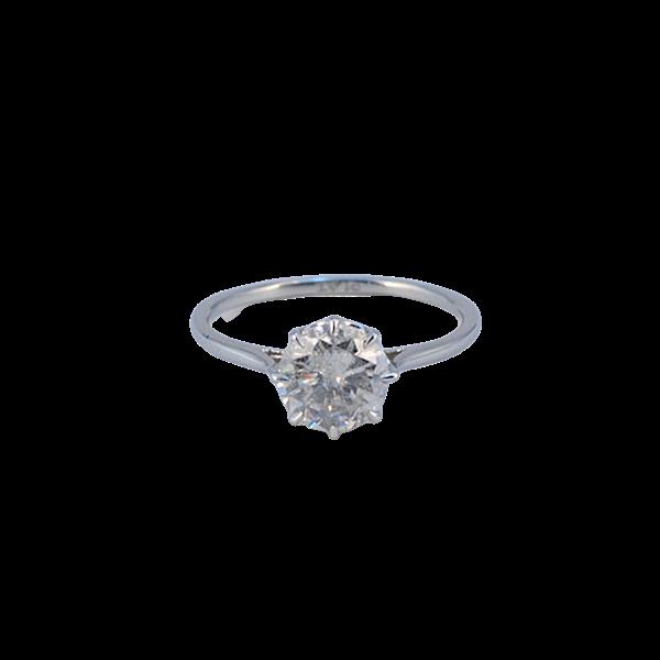 1950's, Platinum Diamond single stone Ring, SHAPIRO & Co since1979 - image 5