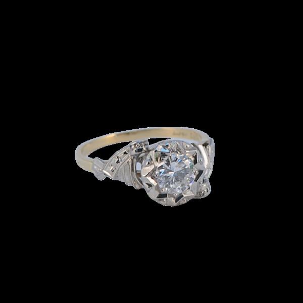1950's, 18ct White\Yellow Gold and Diamond stone set Ring, SHAPIRO & Co since1979 - image 10