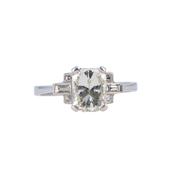 1960's, Platinum and Diamond stone set Ring, SHAPIRO & Co since1979 - image 5