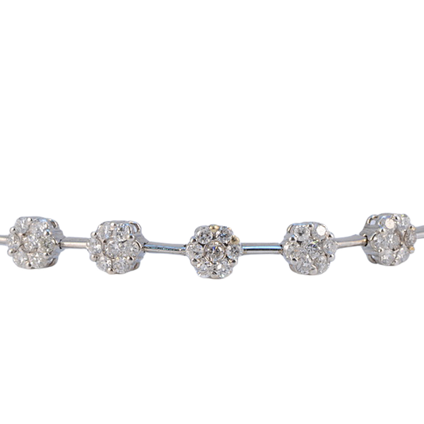 1960's 18ct White Gold Brilliant Cut Diamond stone set Bracelet, SHAPIRO & Co - image 6