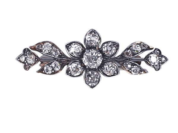 Victorian Diamond Spray Brooch - image 4
