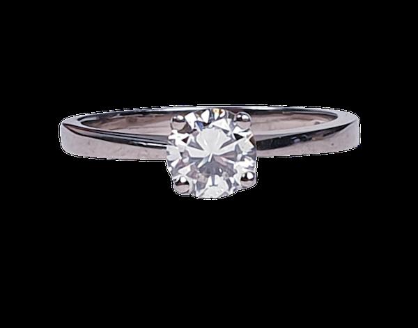 Single Stone Diamond Engagement Ring  DBGEMS - image 1