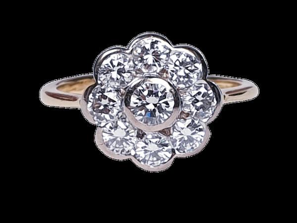 Rubover Diamond Cluster Ring  DBGEMS - image 6