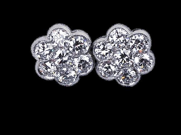 Super quality diamond cluster earrings  DBGEMS - image 1