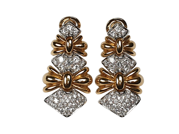 Stylish Diamond Drop Earrings  DBGEMS - image 1
