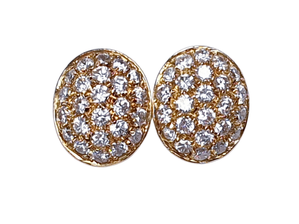 Oval Diamond Set Earrings  DBGEMS - image 1
