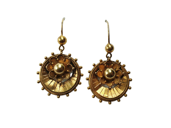 Victorian Gold Etruscan Revival Earrings  DBGEMS - image 1
