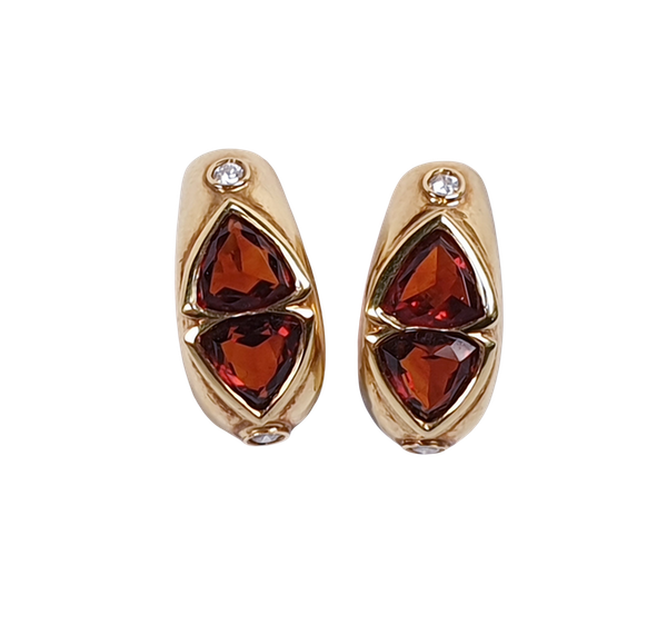 Madeira Citrine and Diamond Clip Earrings  DBGEMS - image 1