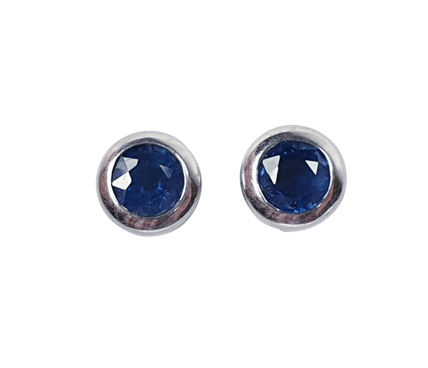Sapphire single stone earrings  DBGEMS - image 1