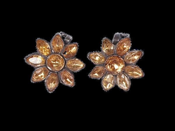 Golden topaz cluster earrings  DBGEMS - image 1