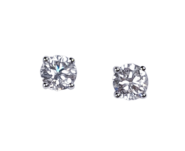 1ct diamond stud earrings  DBGEMS - image 1