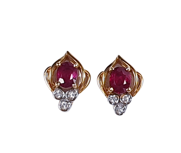Ruby and Diamond Earrings  DBGEMS - image 1