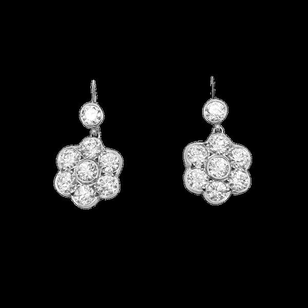 Diamond Daisy drop earrings - image 1