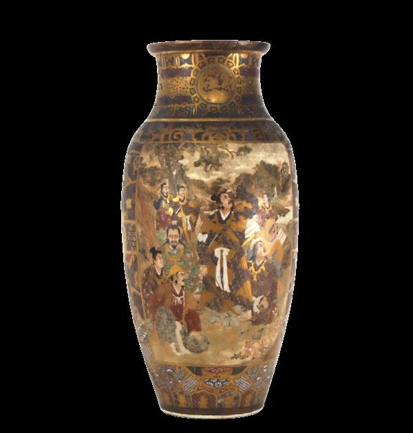 Japanese Satsuma vase with decoration of Samurai - image 7