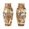 Pair Japanese Satsuma vases with decoration of wealthy figures - image 9