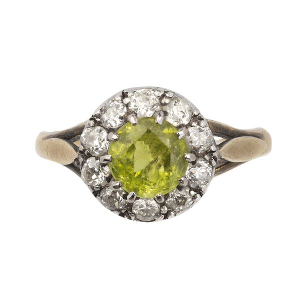 Peridot and diamond ring. Spectrum - image 1
