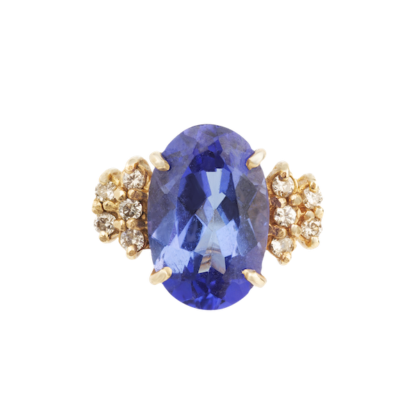 Tanzanite and diamond show stopping ring. Spectrum Antiques - image 1