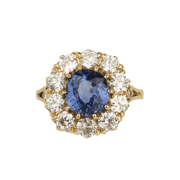 Sapphire & diamond Victorian engagement ring. Spectrum antiques - image 1