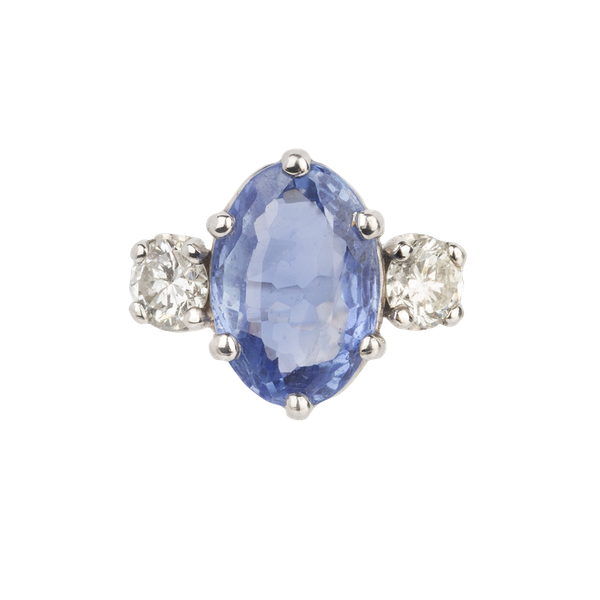 Sapphire & diamond ring. Spectrum Antiques - image 1