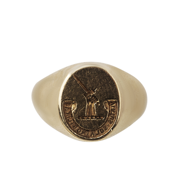 Engraved gold mans signet ring. Spectrum - image 1