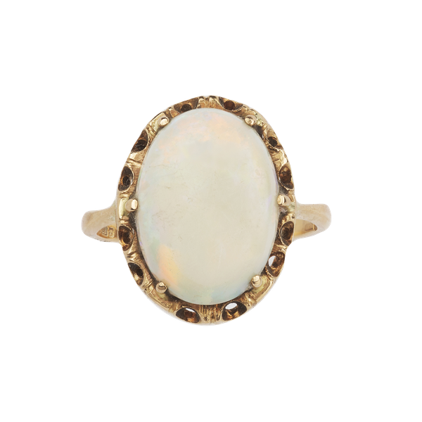 Extra large cabochon opal ring. Spectrum Antiques - image 1
