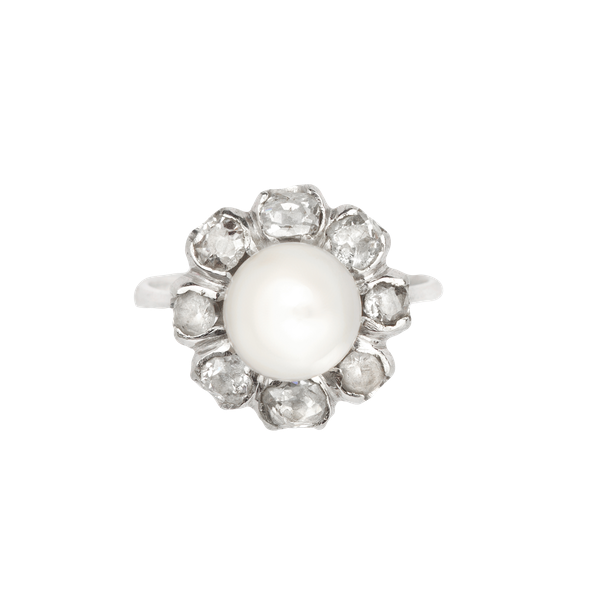 Diamond and pearl cocktail ring. Spectrum Antiques - image 1